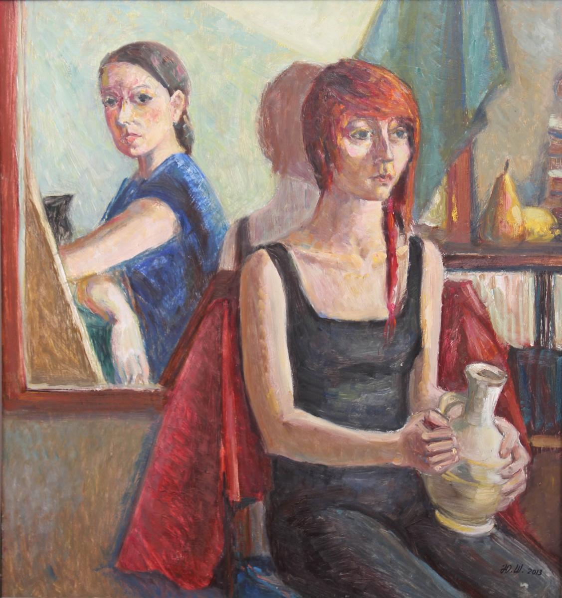 Julia Shiryaeva. Self-portrait with modou