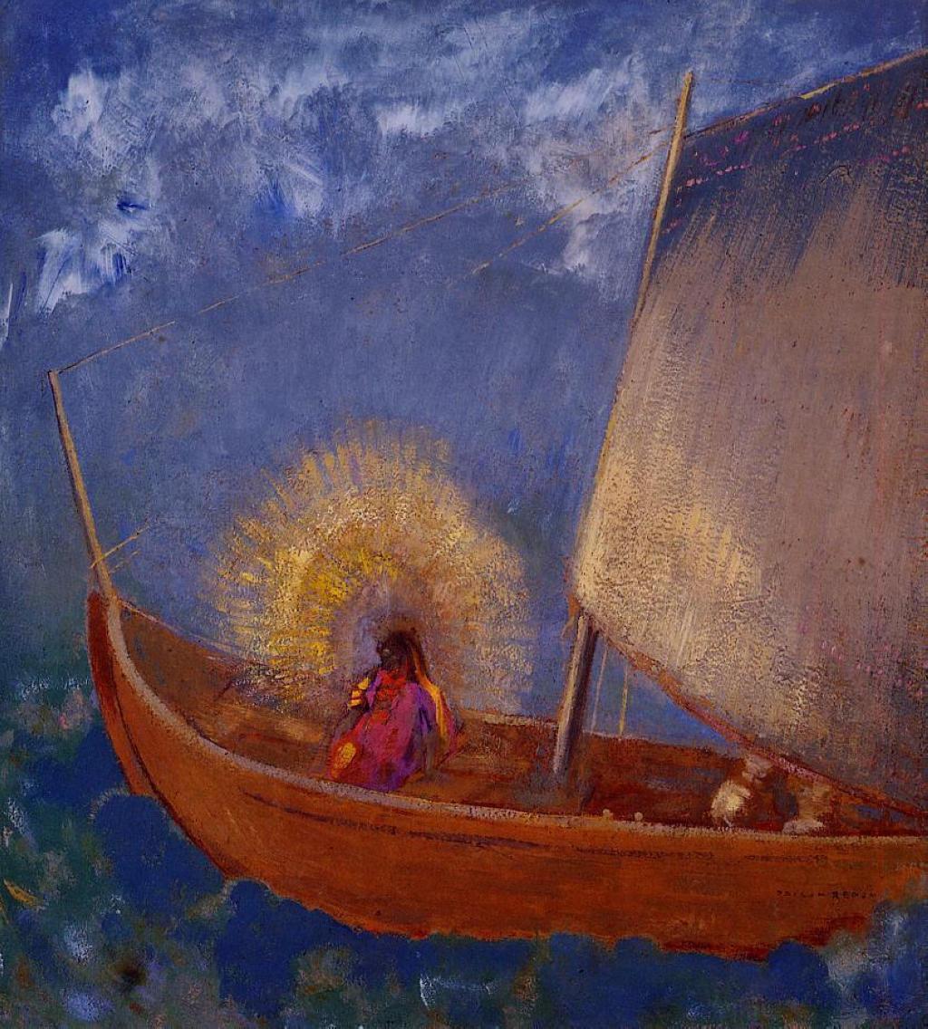 Одилон Редон. Таинственная лодка
