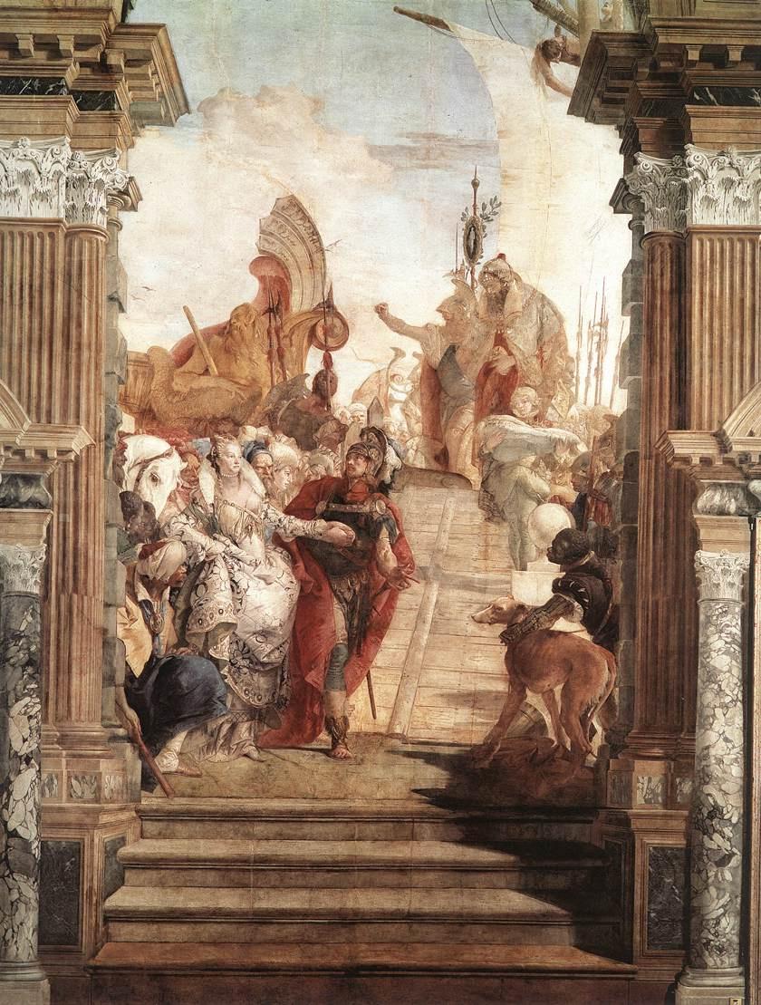 Джованни Баттиста Тьеполо. Совещание Антония и Клеопатры