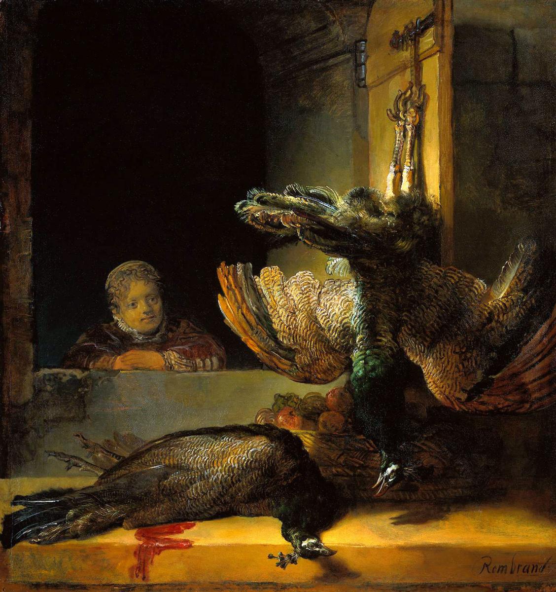 Рембрандт Ван Рейн. Мертвые павлины