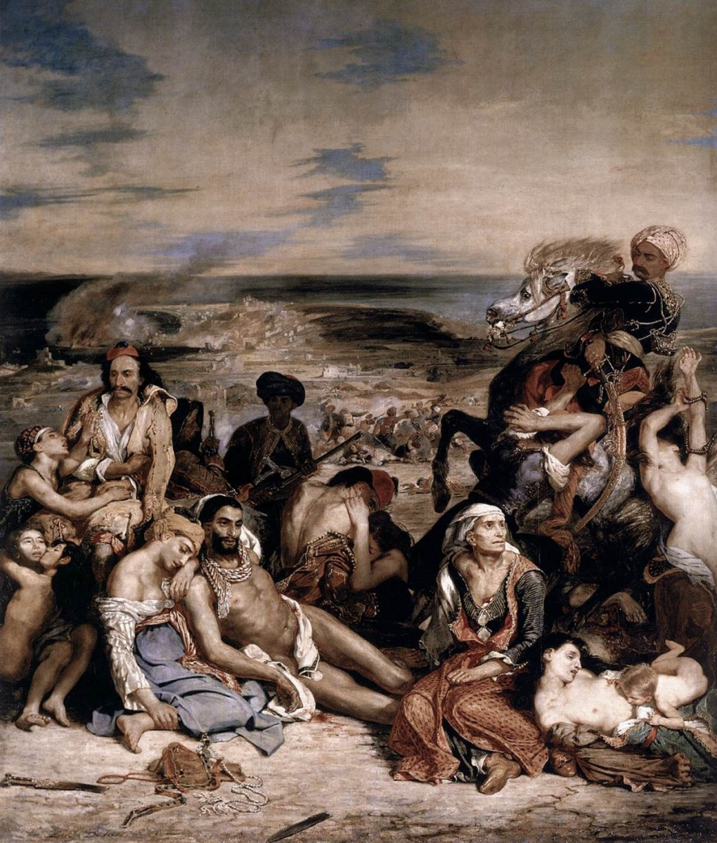 Eugene Delacroix. The massacre at Chios