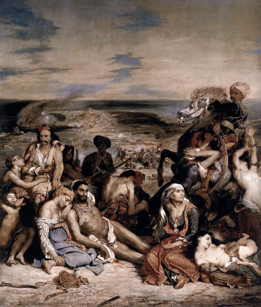 Eugene Delacroix. The massacre at Chios