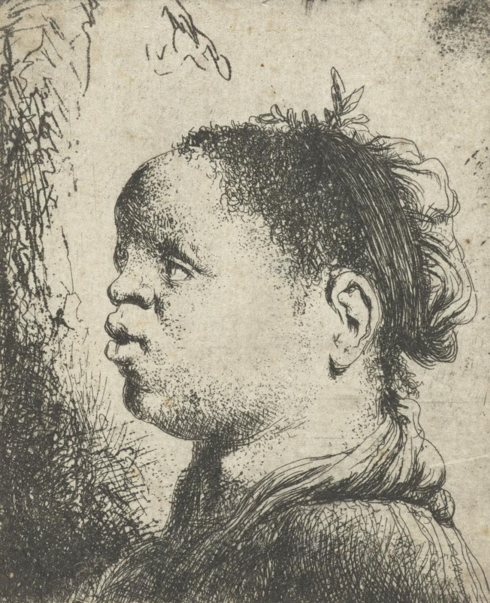 Ян Ливенс. Портрет темнокожей женщины