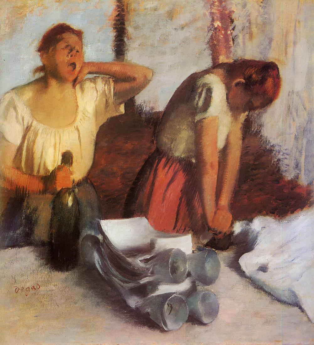 Edgar Degas. Ironers