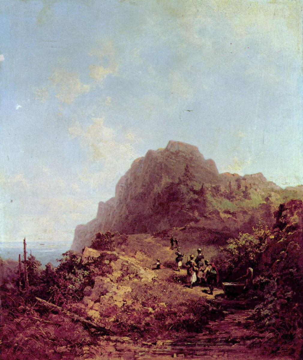 Карл Шпицвег. Прогулка в горы