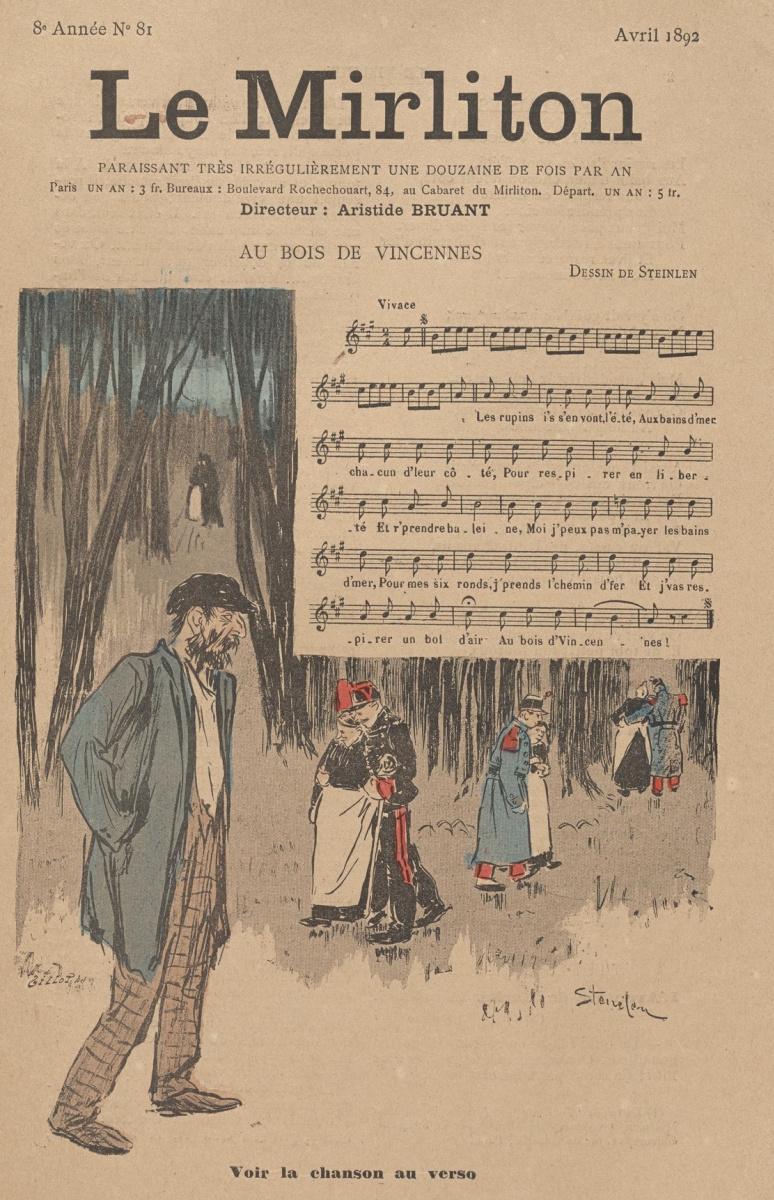 "Theophile-Alexander Steinlen. Illustration for the magazine ""Mirliton"" No. 81, April 1892"