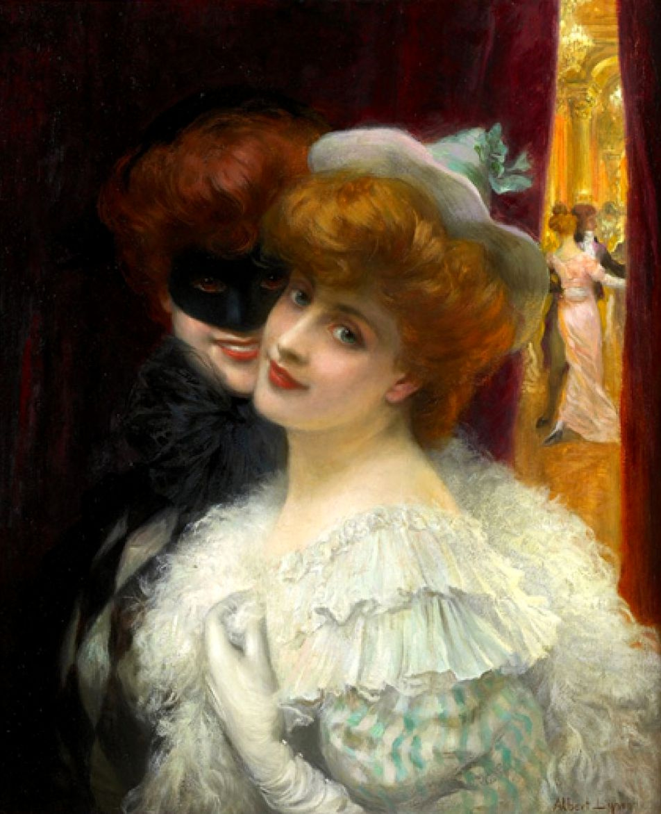 Albert Lynch 1851-1912 Peruvian artist. Ball-masquerade.