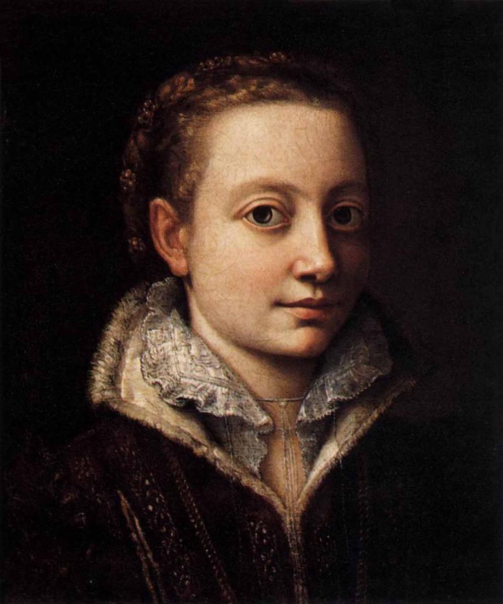 Sofonisba Angisola. Minerva Angwissola, sister of the artist