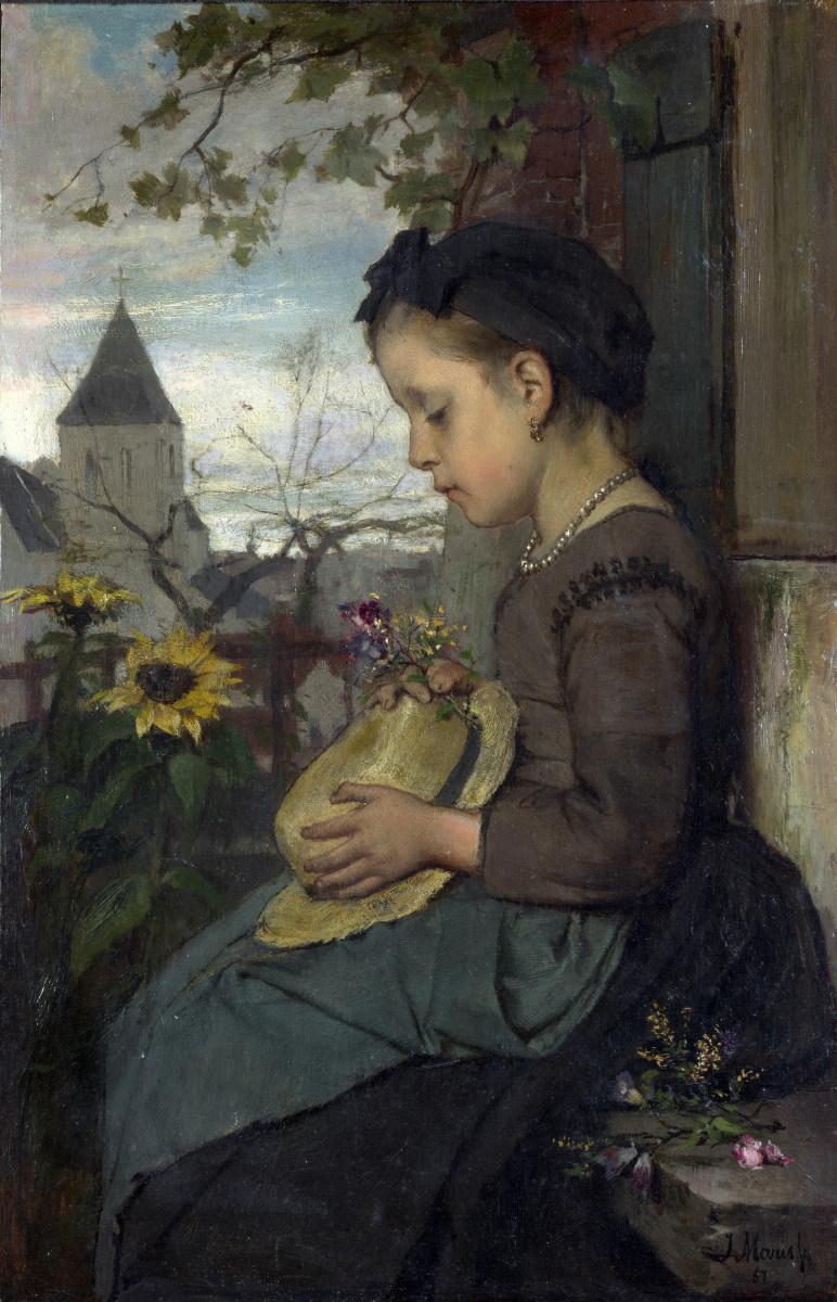 Иаков Марис. Девушка сидит возле дома
