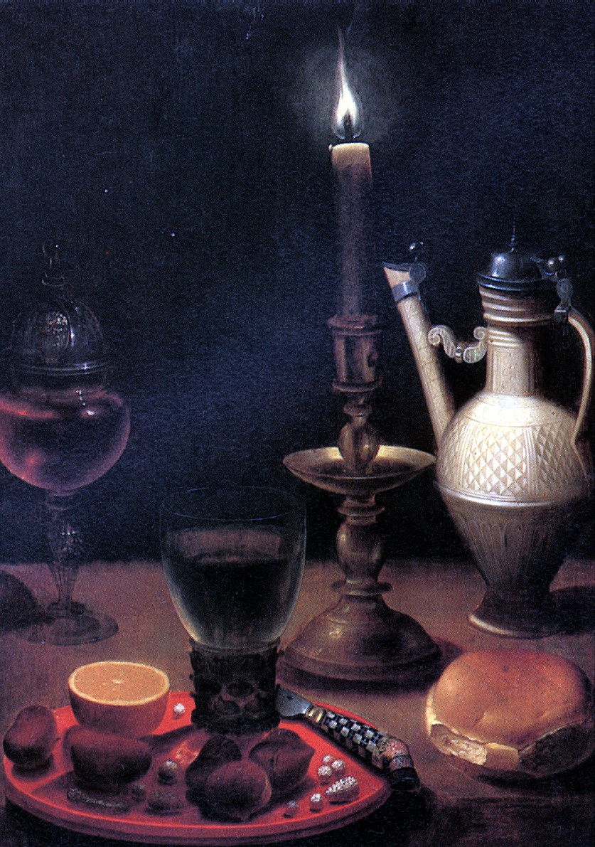 Vedig Gottfried Background. Still life with candle