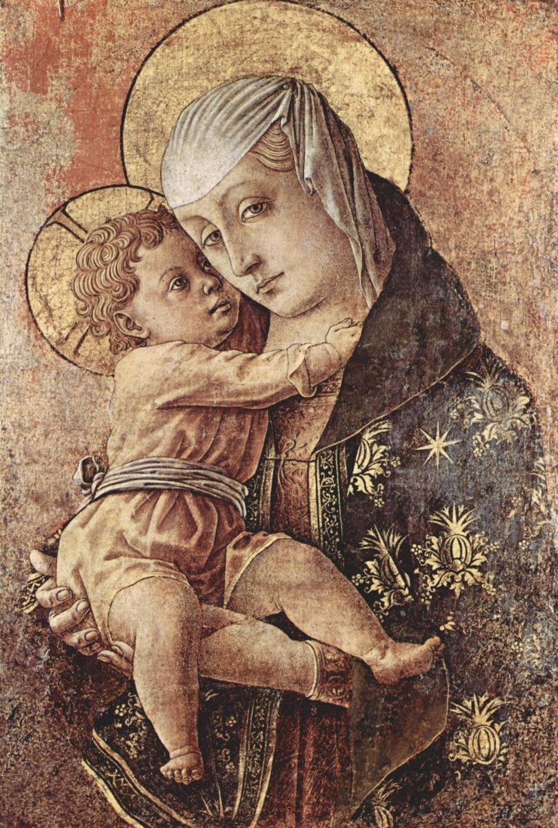 Карло Кривелли. Мадонна. Фрагмент алтаря из Кьеза делли Оссерванти в Макерата