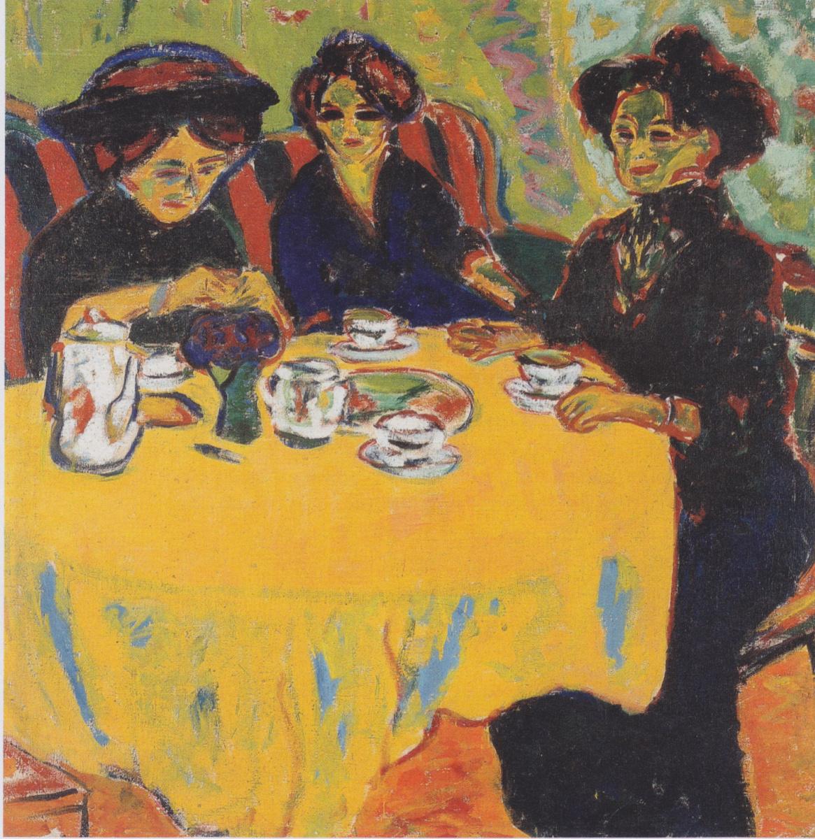 Ernst Ludwig Kirchner. Women drinking coffee