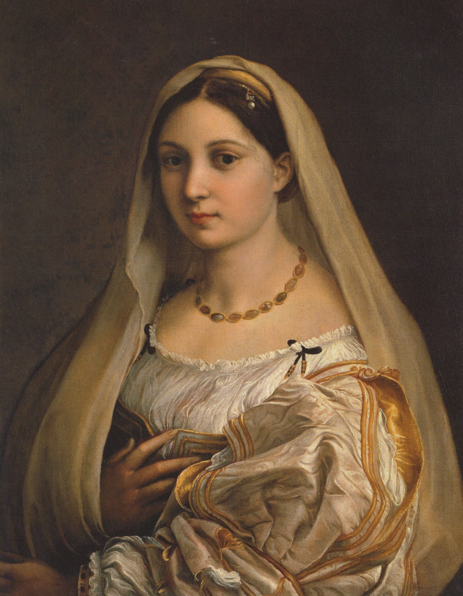 Рафаэль Санти. Донна Велата (Женщина под покрывалом, портрет Форнарины)