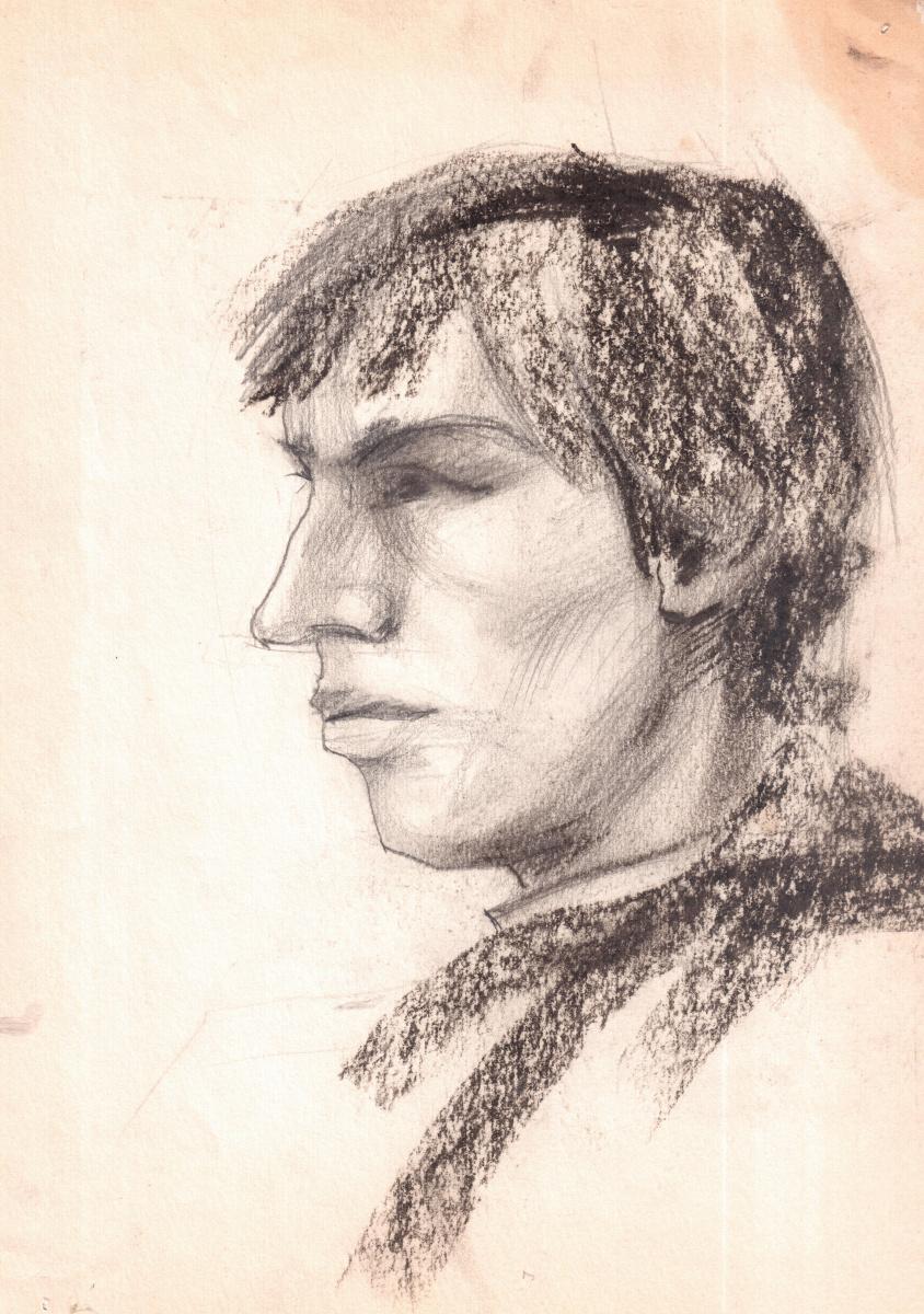Аркадий Павлович Лаптев. Набросок рабочего