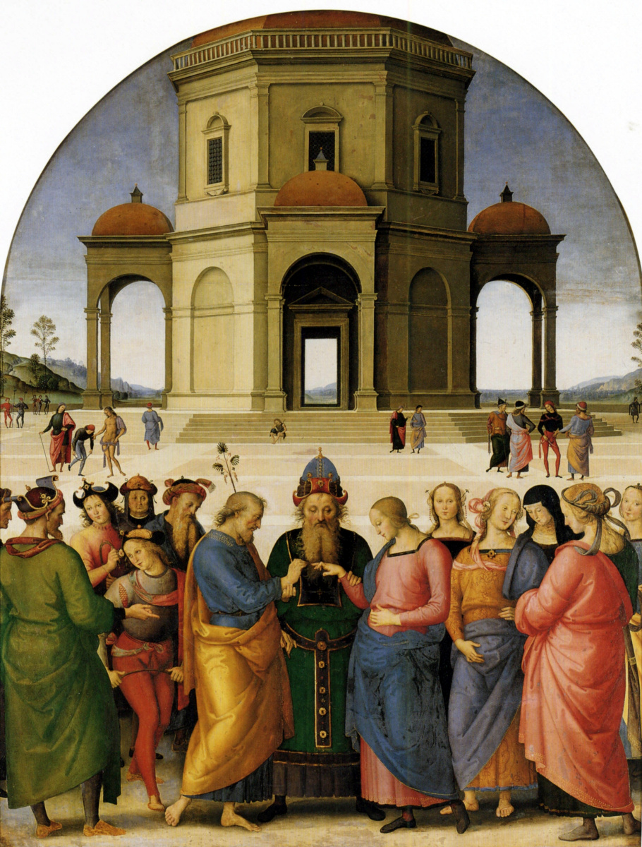 Пьетро Перуджино. Обручение Девы