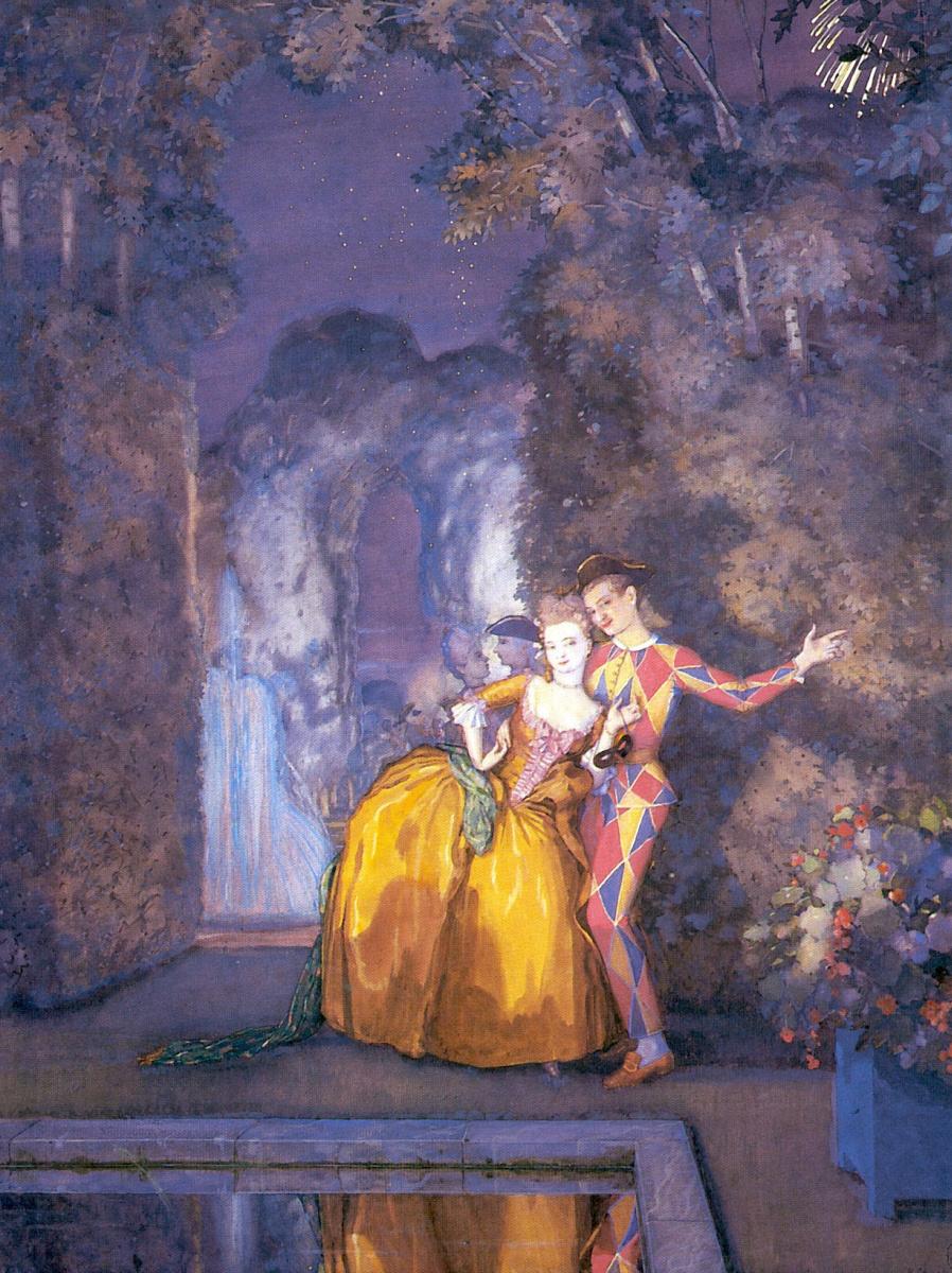 Константин Андреевич Сомов. Арлекин и дама (Фейерверк)