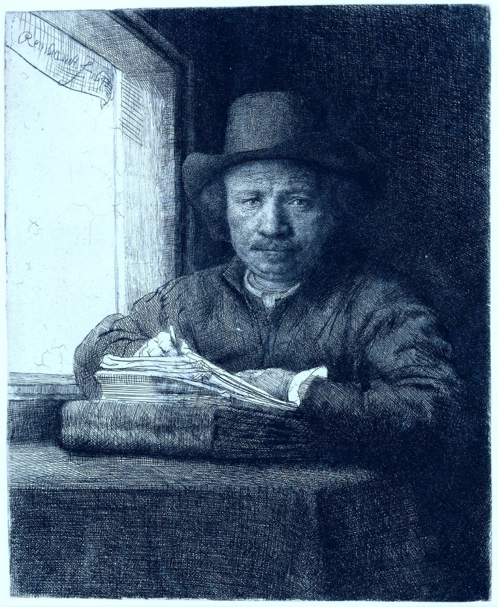 Рембрандт Ван Рейн. Рисунок у окна