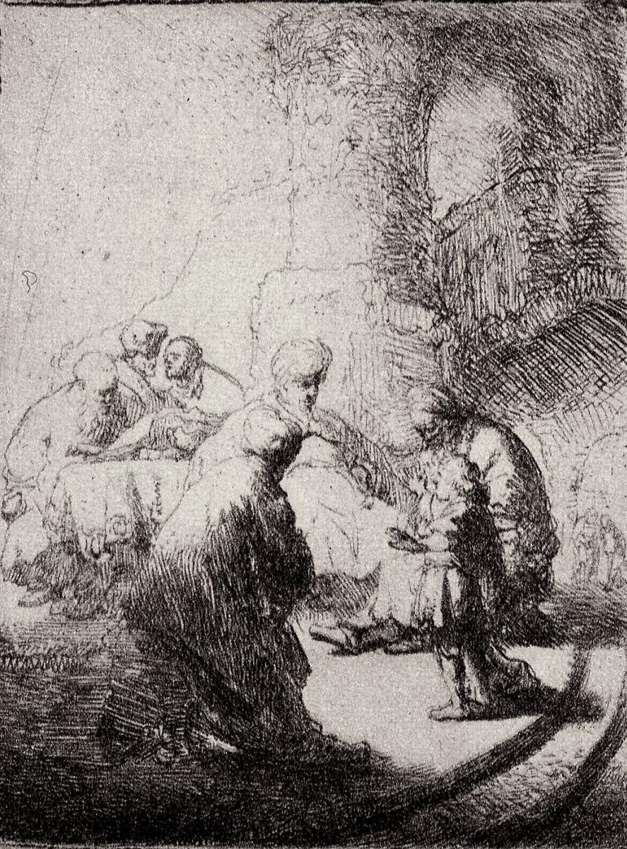 Рембрандт Харменс ван Рейн. Мальчик Иисус среди книжников