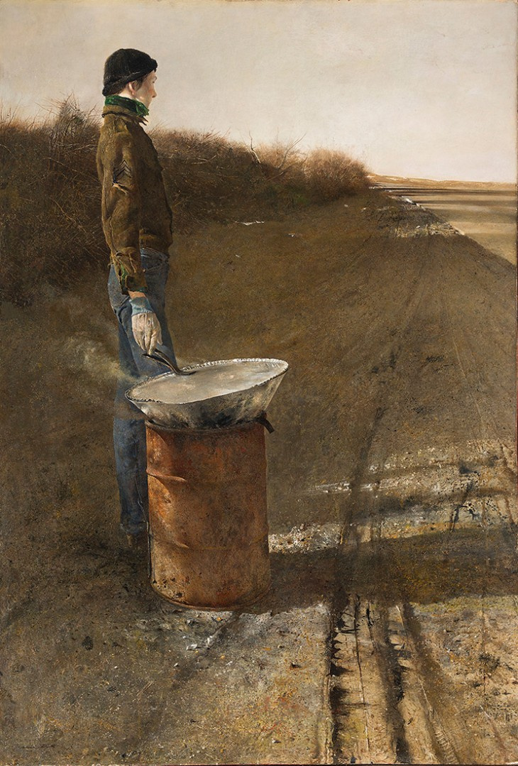 Andrew Wyeth. Roasted chestnuts