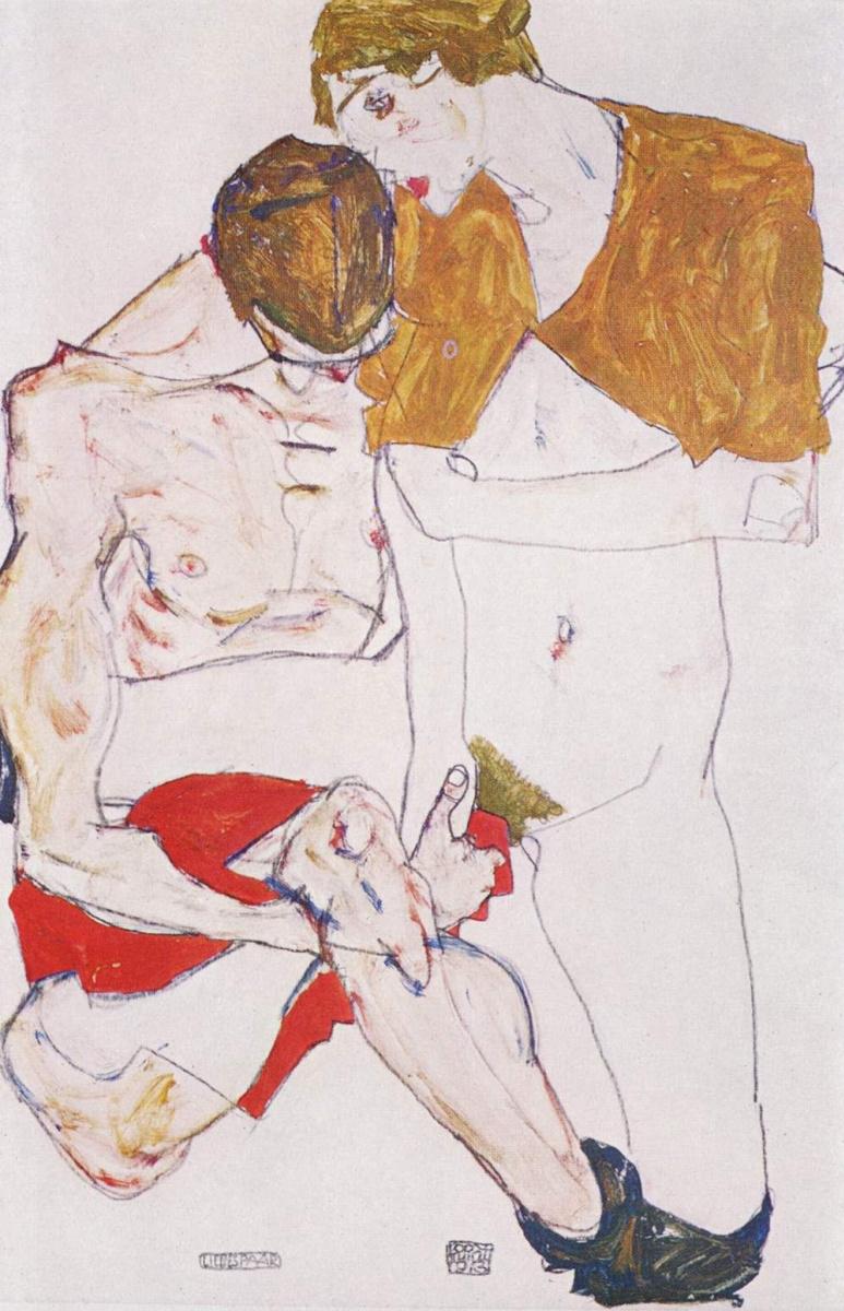 Egon Schiele. Lovers