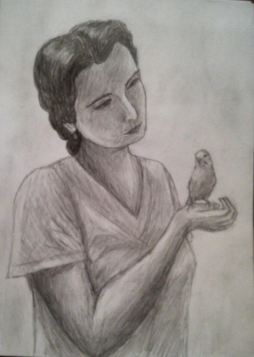 Зина Владимировна Парижева. Мама и птичка