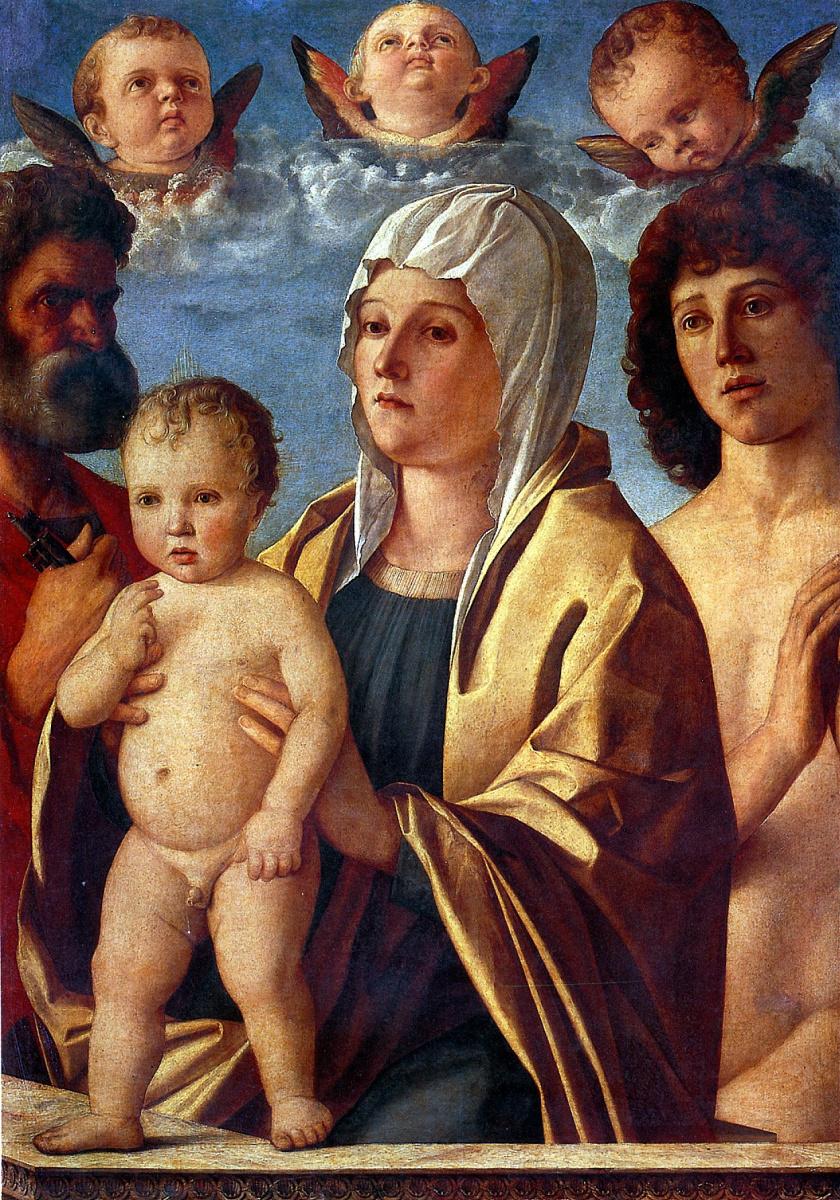 Джованни Беллини. Мадонна с младенцем и со святыми Петром и Себастьяном