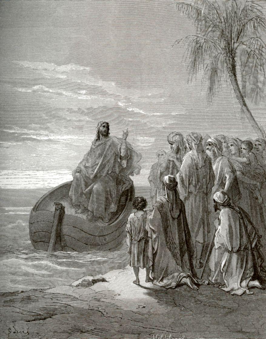Поль Гюстав Доре. Проповедь Иисуса Христа у озера Геннисаретского