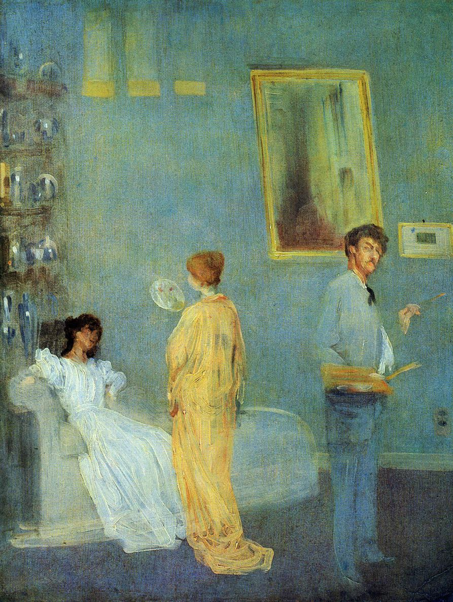 James Abbot McNeill Whistler. Whistler in his Studio