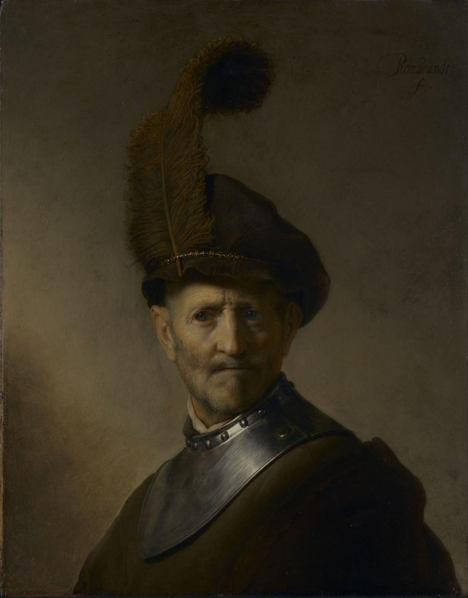 Рембрандт Харменс ван Рейн. Старик в военном костюме