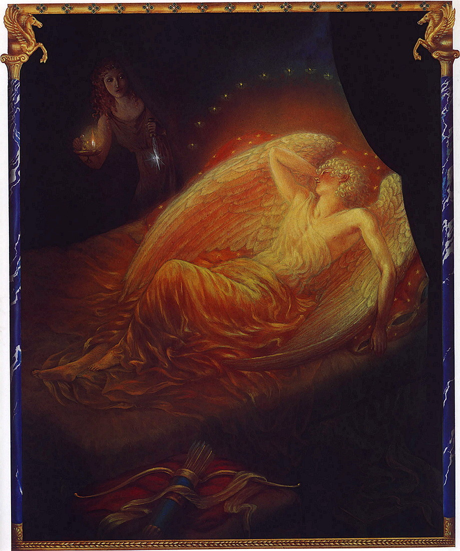Kinuko Kraft. Sleeping Cupid