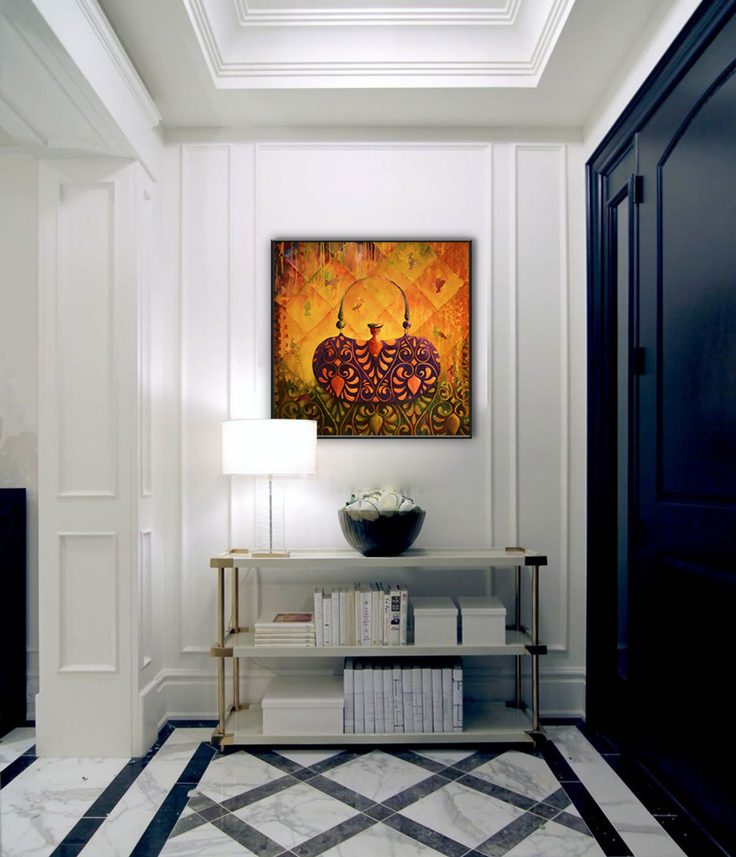 GLAMOUR BB 80*80 cm, original oil painting