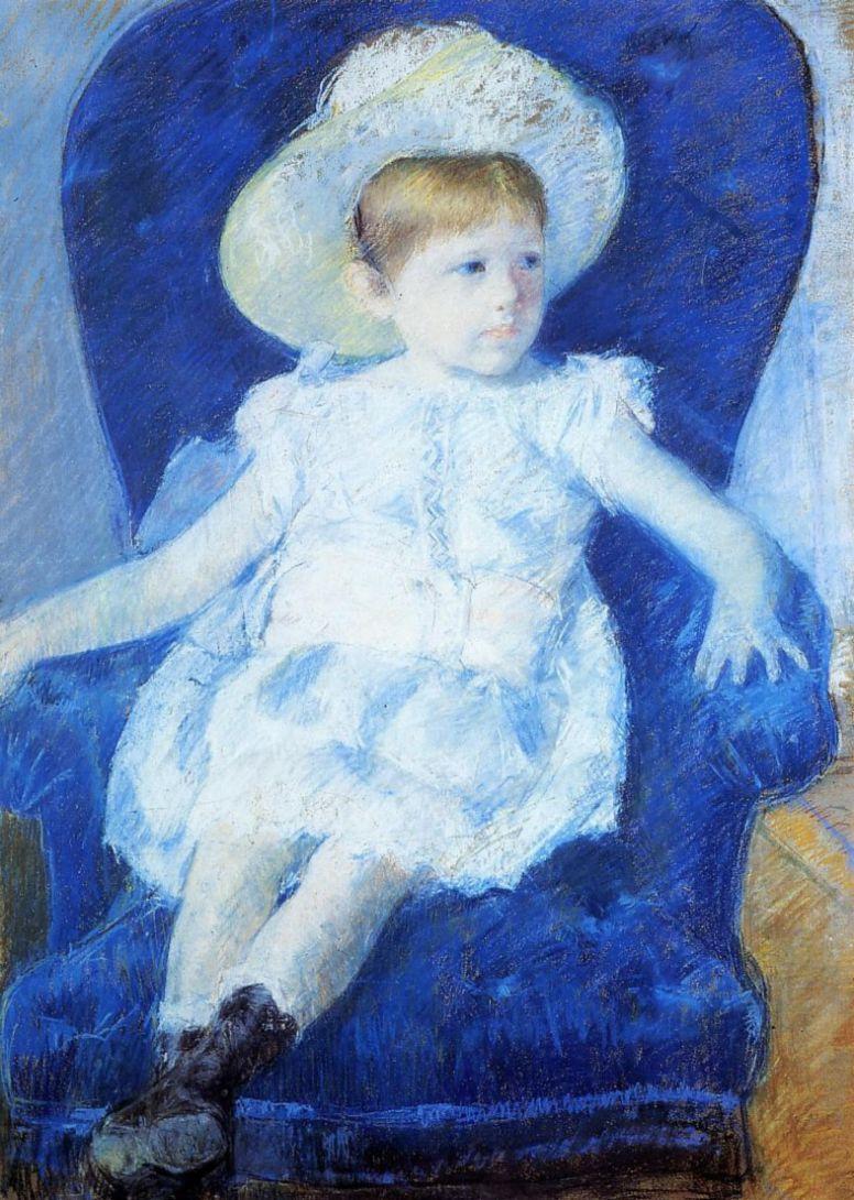Мэри Кассат. Элси в синем кресле