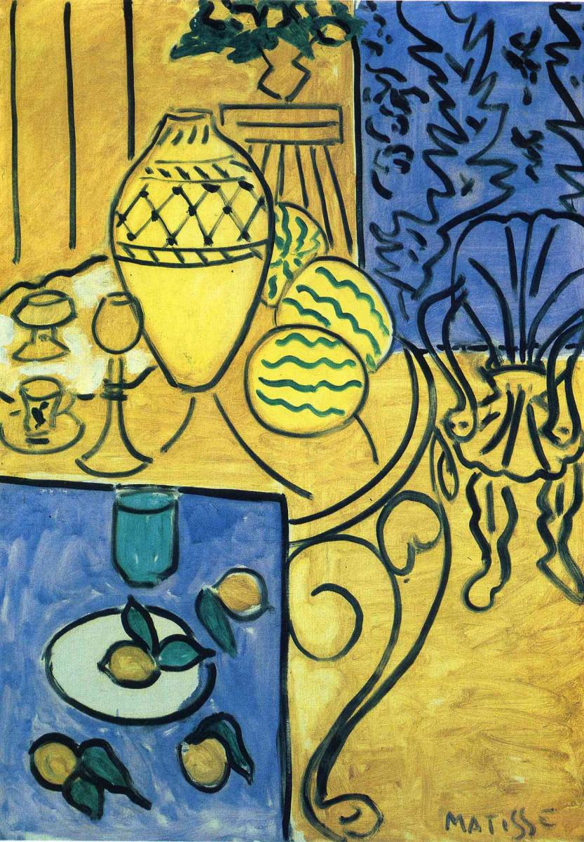 Анри Матисс. Интерьер в желтом и синем