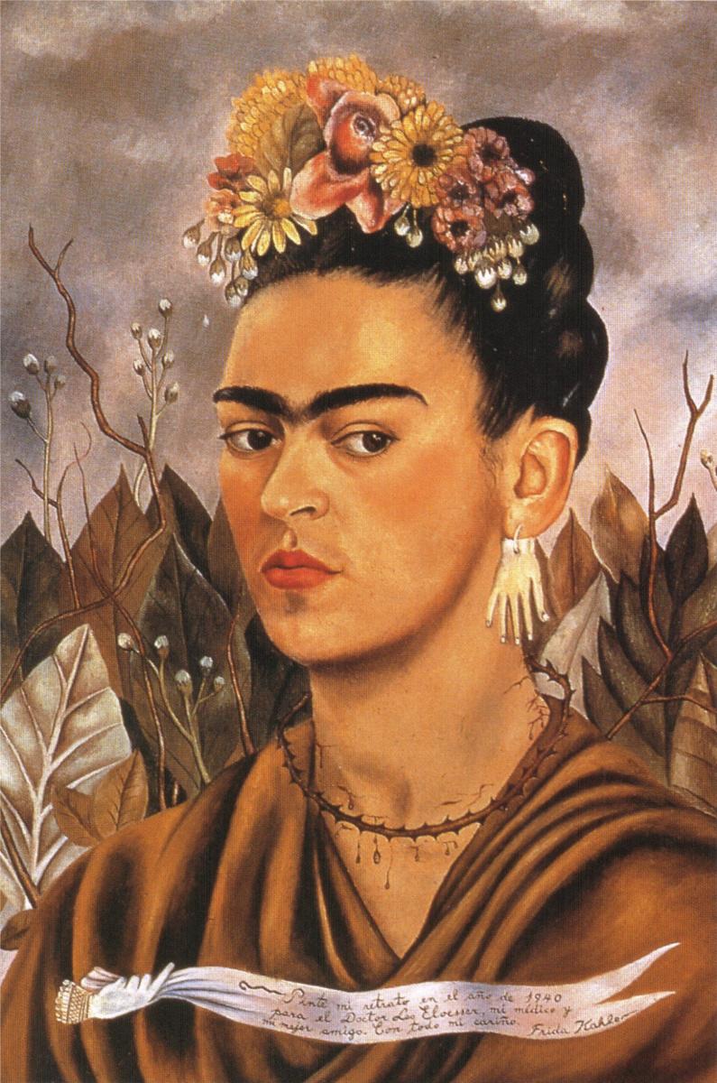 Frida Kahlo. Self portrait dedicated to Dr. Eloesser