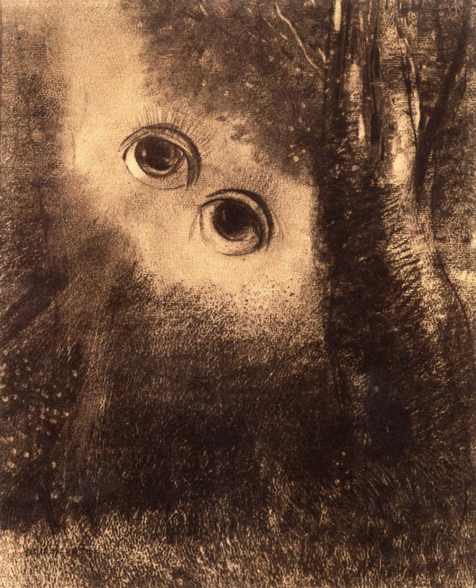 Одилон Редон. Глаза Елены (Глаза в Деревьях)