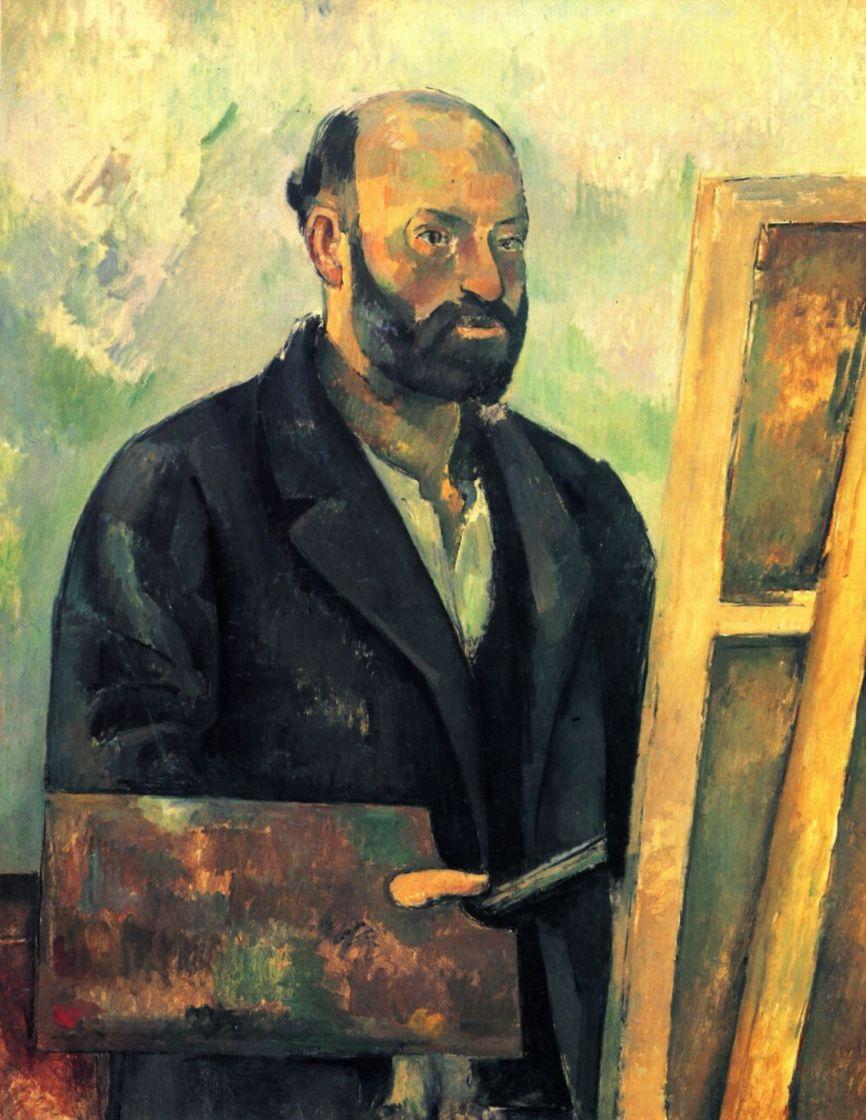 Поль Сезанн. Автопортрет с палитрой