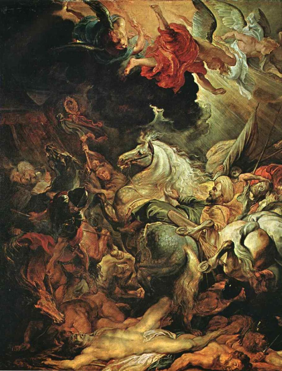 Питер Пауль Рубенс. Поражение царя Ассирии Синаххериба (фрагмент)