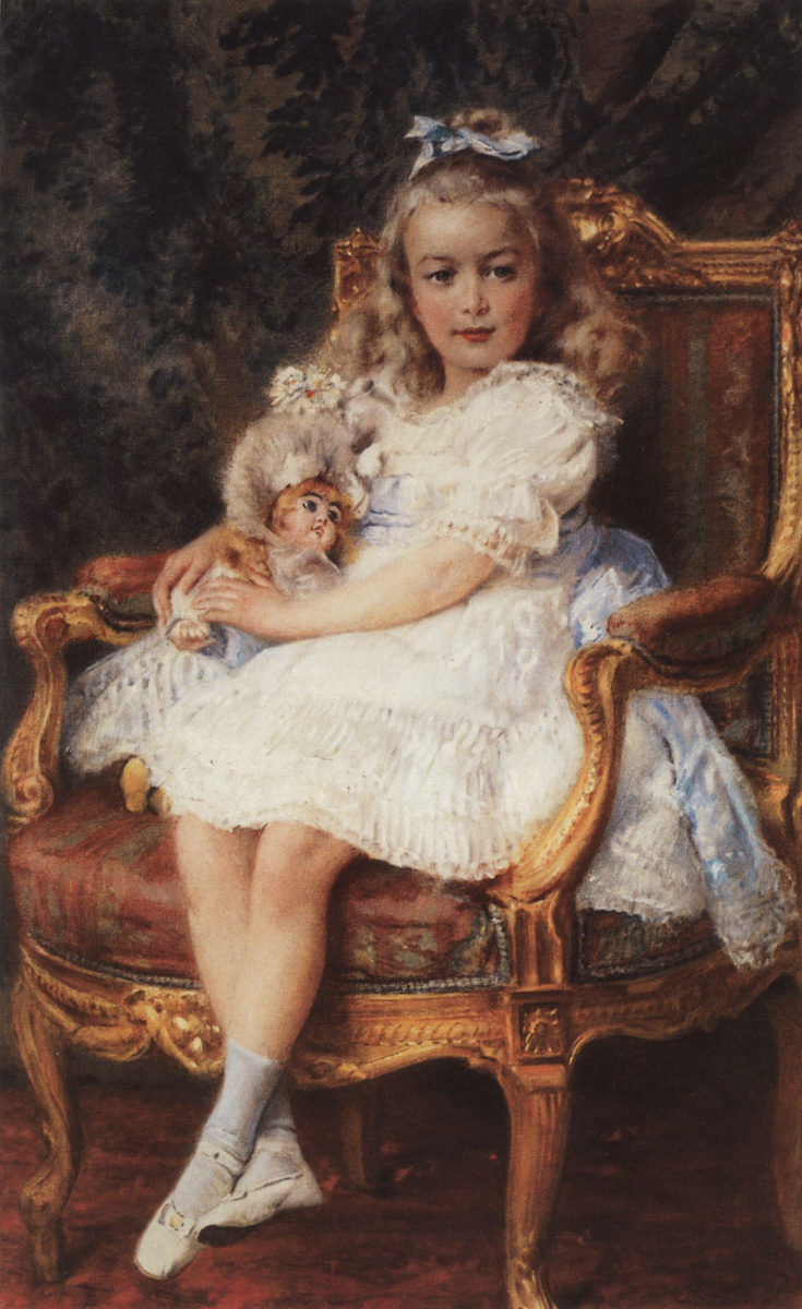 Константин Егорович Маковский. Портрет великой княжны Марии Николаевны