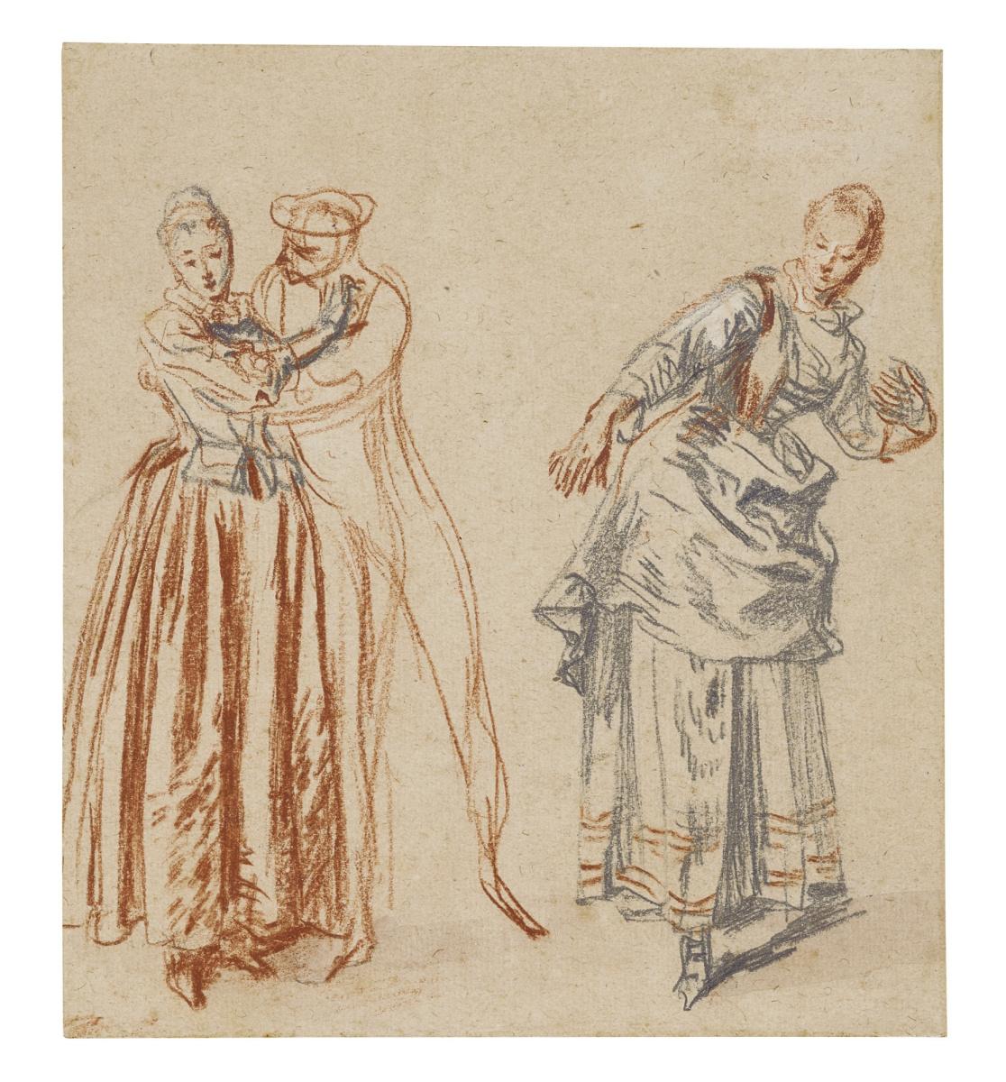 Antoine Watteau. Scene from the Commedia Dell'arte