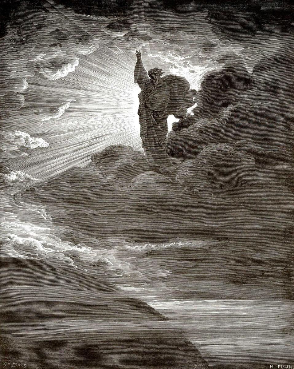 Поль Гюстав Доре. Иллюстрации к Библии: И сказал Бог: да будет свет