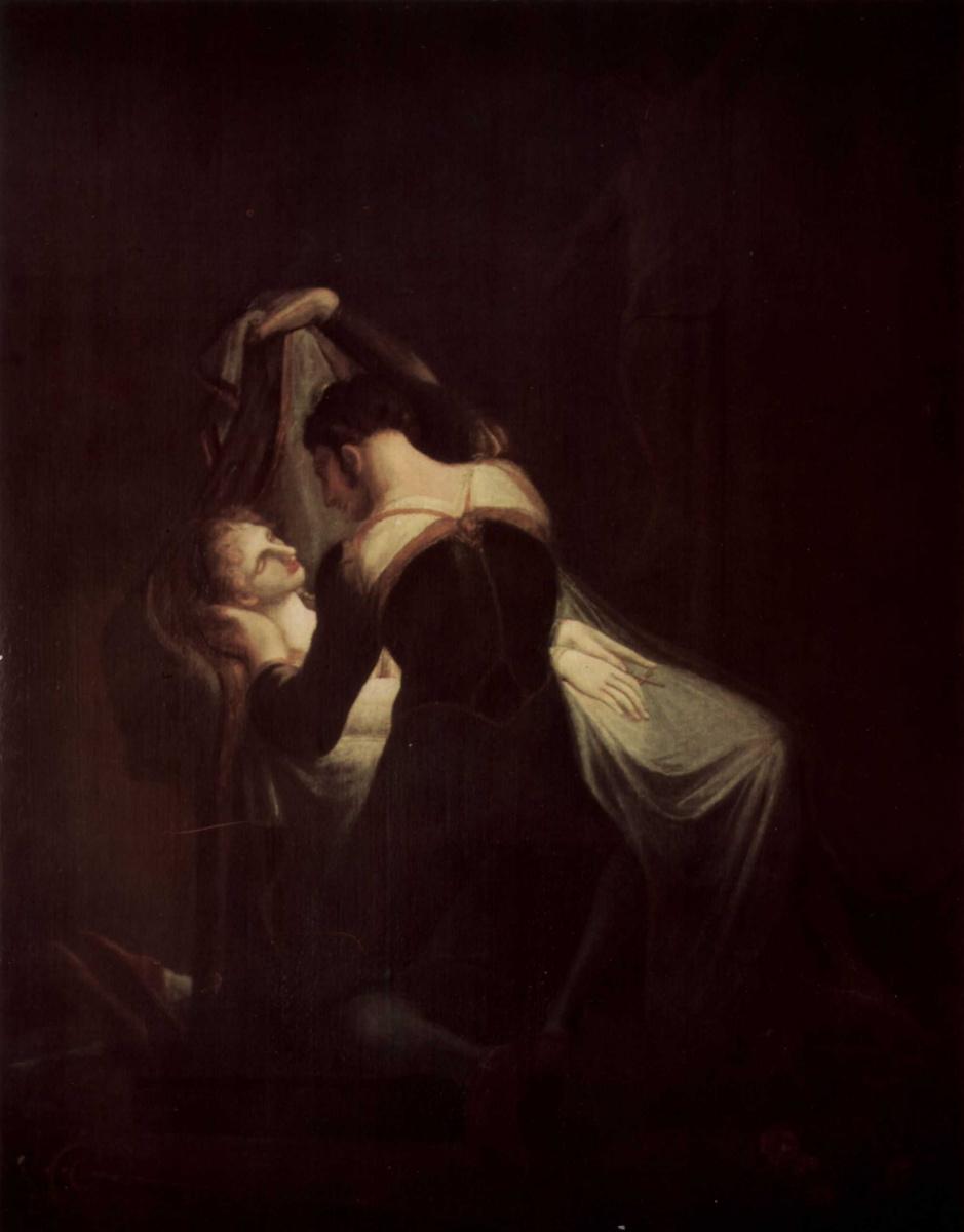 Иоганн Генрих Фюссли. Ромео и Джульетта, лежащая на смертном одре