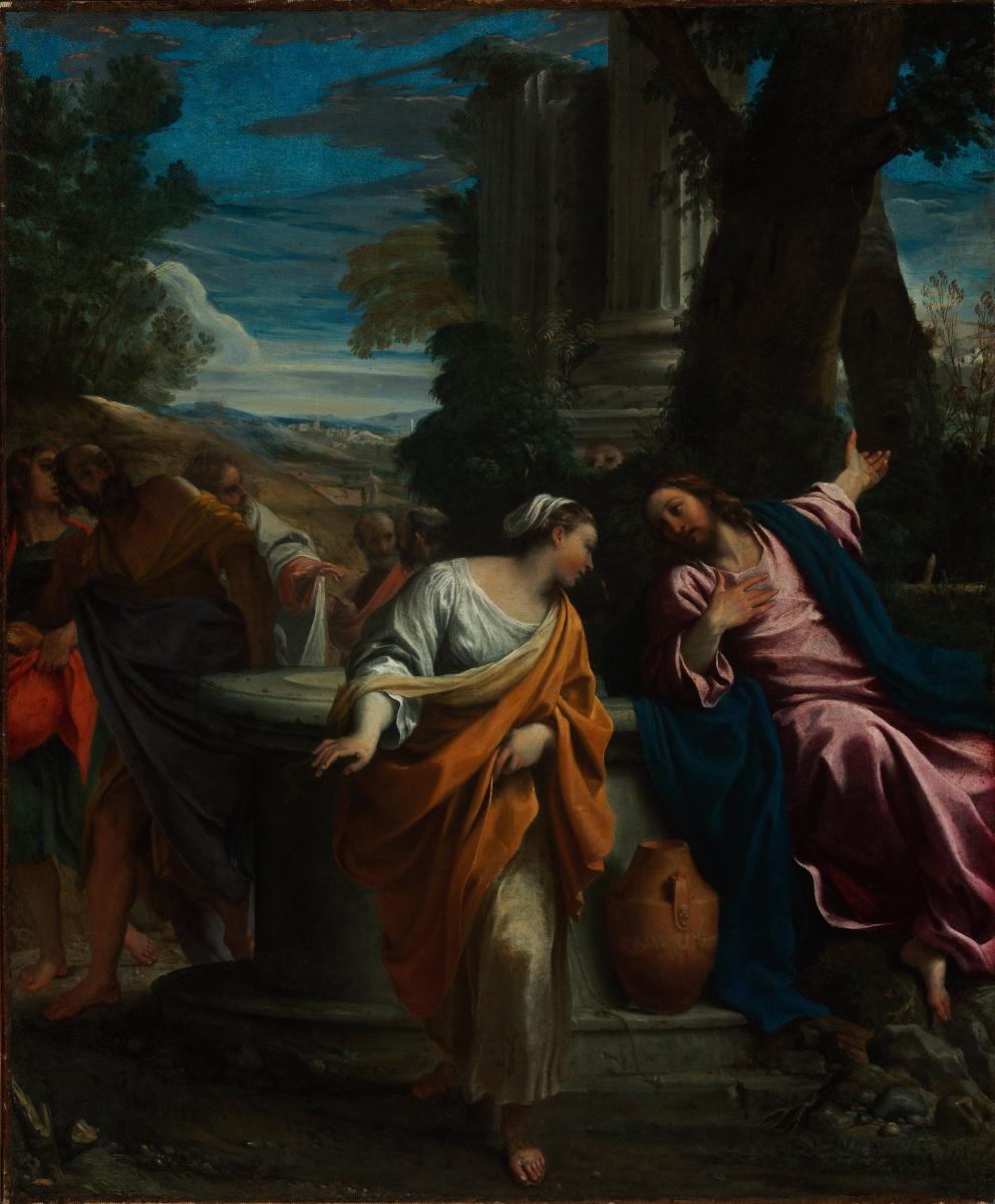 Annibale Carracci. Christ and the Samaritan woman