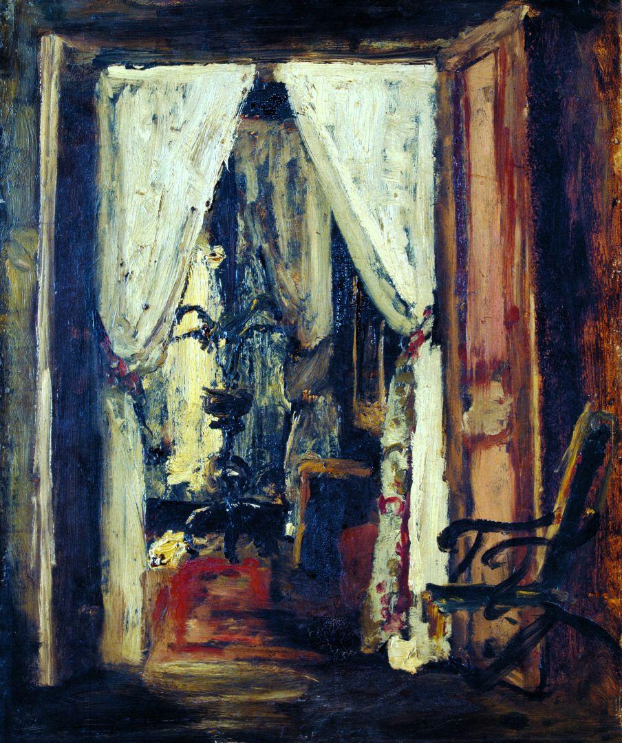 Михай Либ Мункачи. Интерьер парижской комнаты
