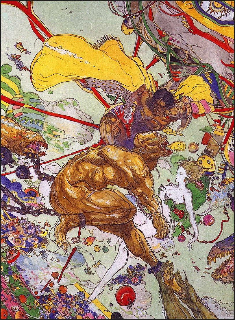 Yoshitaka Amano. Colored nightmare