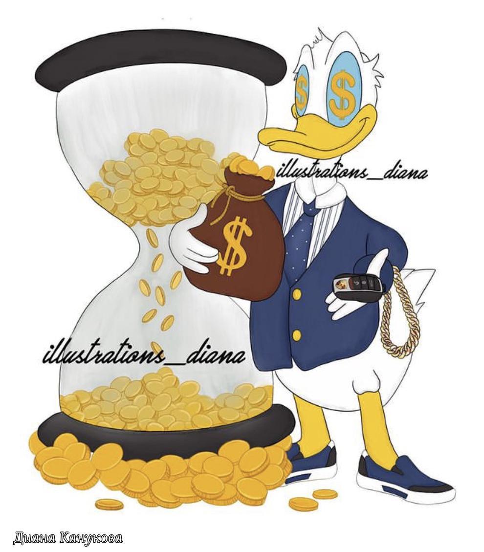 Diana Kanukova. Donald Duck