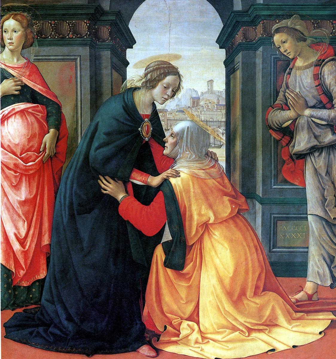 Доменико Гирландайо. Встреча Марии и Елисаветы