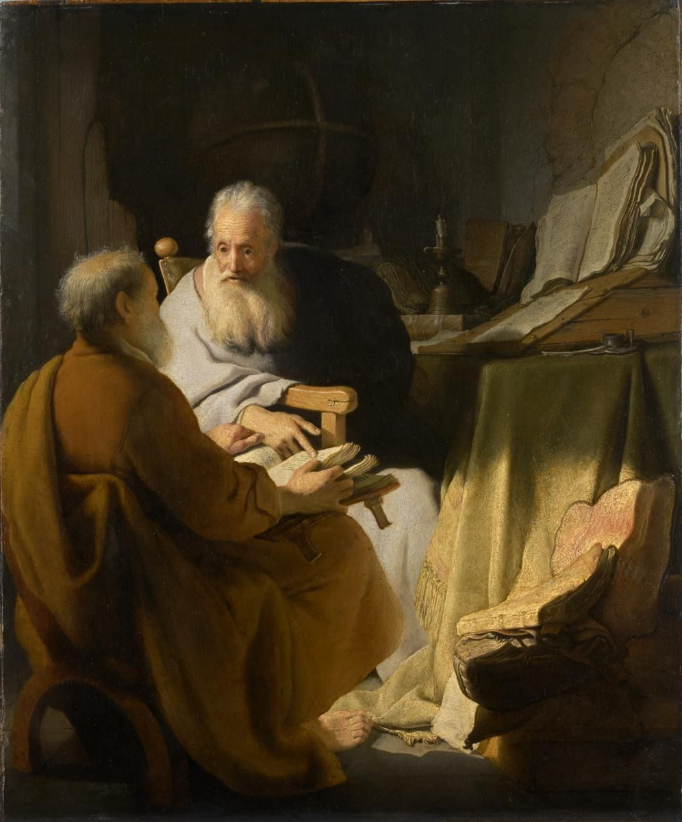 Rembrandt Harmenszoon van Rijn. The debate two old men