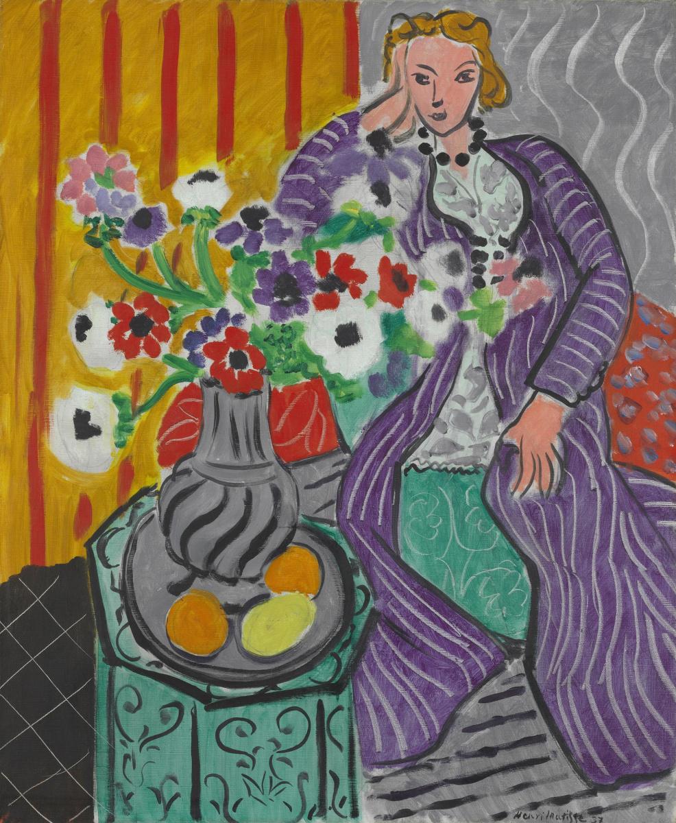 Henri Matisse. Purple robe and anemones