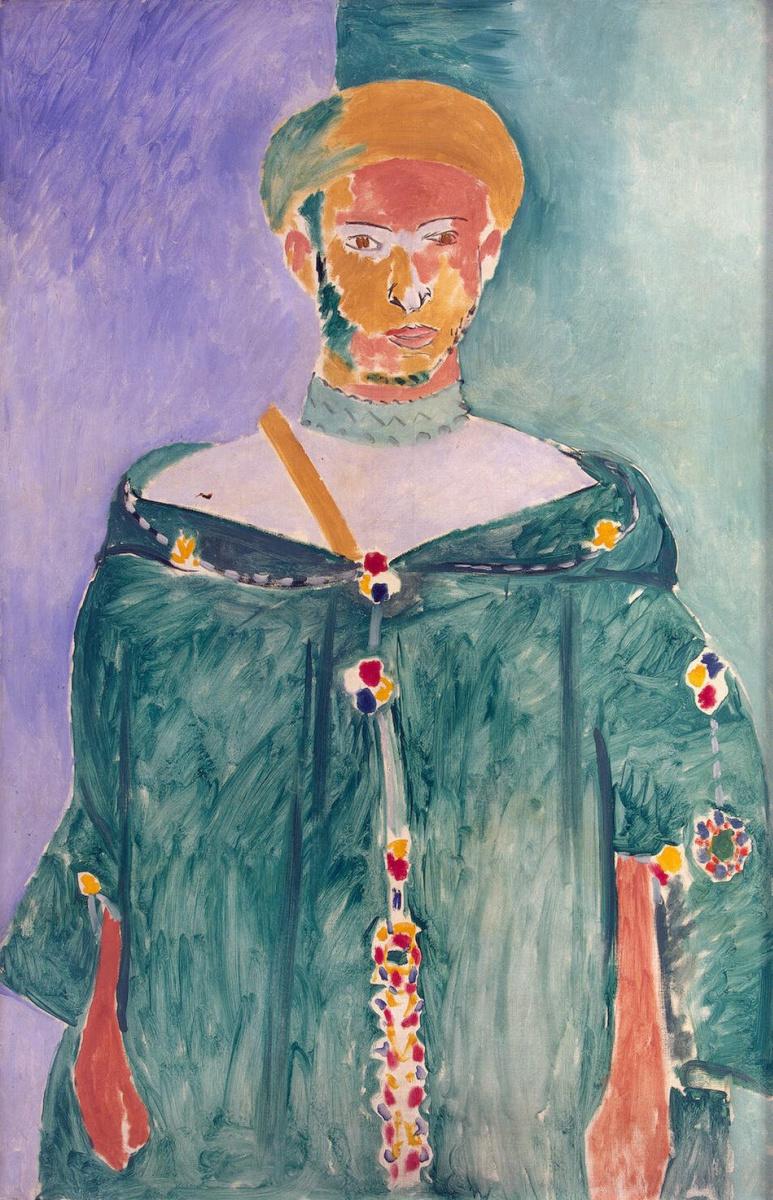 Анри Матисс. Стоящий марокканец в зеленой одежде