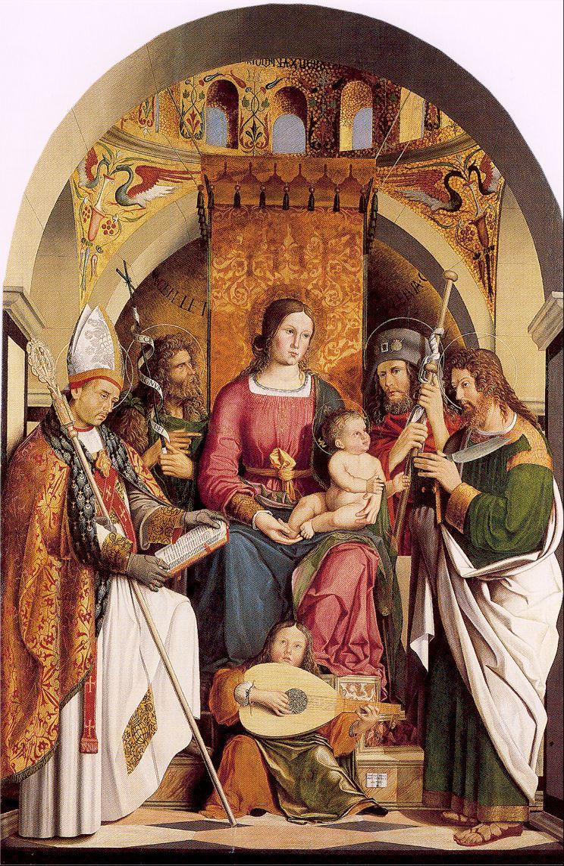 Марко Мапзиал. Богородица на троне